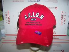 Reign Sports ORIGINAL HAT/CAP STRAP ADJUSTABLE ADULT -RED- RIPPED LOOK