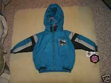NHL San Jose Sharks Heavy Hooded Winter Jacket Sz 2T