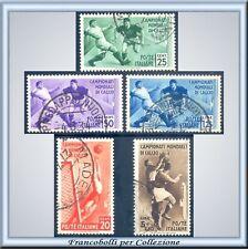1934 Italia Regno Calcio Posta Ordin. n. 357/361 Usati