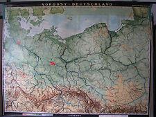 Schulwandkarte Wandkarte Karte Nordost Deutschland Schlesien Preussen 214x163 59