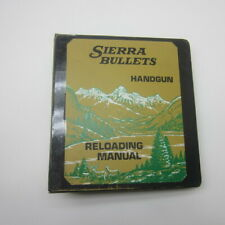 Sierra Bullets Handgun Reloading Manual Old Pistol Data Binder