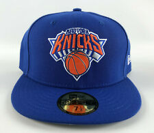 New York Knicks Baseball Hat New Era 59Fifty Blue Metal Logo Fitted 7 1/2