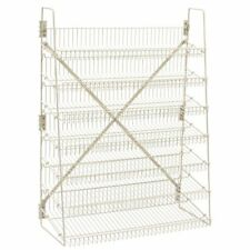 "Wire Candy Snack Rack, 7 Tier, Beige, 36"" W, Free Stand or Mount"