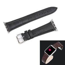Pièces de Rechange Bracelet Similaire Cuir Noir pour Apple Montre 38mm