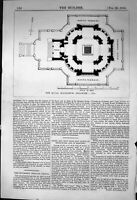 Old Antique Print Plan Royal Mausoleum Frogmore Architecture 1863 Builder 19th