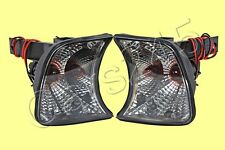 Turn Signals Crystal Corner Lights Gray Fits BMW 5 Series E34 88-95