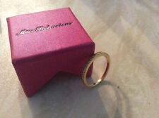 Gold Plated Diamanté Eternity Ring By Miss Behaviour. UK Size P. 3 Available