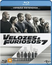 Blu-ray Fast and Furious 7 Extended Edition [English+Spanish+Portuguese] Reg ALL