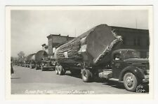 RPPC, Giant Fir Logs, trucks, LERYCK LOGGING CO, Arlington Trucking, WA, 1950s