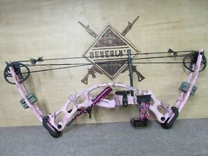 Hoyt Ruckus RH Pink Camo 20-50lb 18-28in draw length whisker biscuit 5pin sight