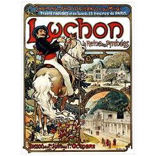Luchon by Alphonse Mucha Deco Magnet, 1895 Art Nouveau Repro Fridge Magnet