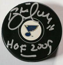 St. Louis Blues Brett Hull Signed Autographed Puck Auto NHL Hockey