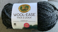 Lion Brand Wool-Ease Thick & Quick, Super Bulky, Charcoal