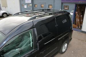 VW Caddy Maxi 2004+ Aluminium Dachreling und Querträger schwarz