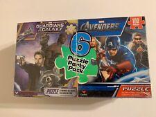 Disney Marvel Jigsaw 6 Puzzle Party Pack - Avengers, SpiderMan, Guardians, Cap