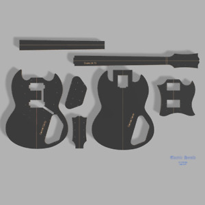 """Gibson SG Special Style Guitar Template MDF 0.50"""""""