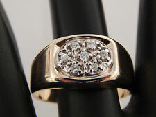 Men's .17 tcw Diamond Cluster Ring 14k Yellow & White Gold G/SI1 eye clean BJC