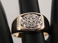 Men's .17 tcw Diamond Cluster Ring 14k Yellow & White Gold G/SI1 eye clean BJC