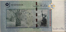 RM50 Zeti sign Low Number Note HX 0000608
