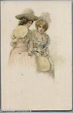 VIENNE Style Belle Epoque Glamour Girls Donnine Cappelli Ventagli PC Circa 1900