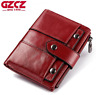 Women Genuine Leather Cowhide Bifold Wallet Credit Card ID Holder Clutch Purse