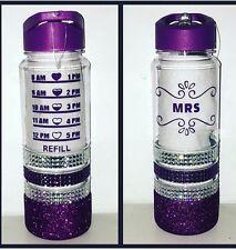 Glitter Water Bottle Purple Slimming World Diet Weight Watchers Healthy