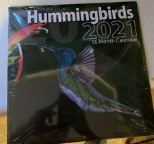 2021 HUMMING BIRDS THEME 16-Month Wall Calendar 12X12 - FSHIP/Bachmann Press