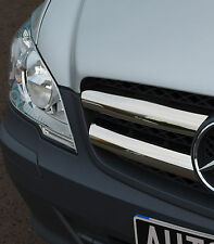 CHROME GRILLE TRIM COVER ACCENT STRIPS / HIGHLIGHTS FOR MERCEDES BENZ VITO 10-15