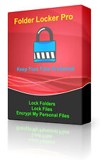 Encryption Password Protected Folder/File Lock Secure Data Unreachable Software