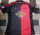 SWANSEA CITY FC 'Adidas' Away SHIRT Red/Black 2014-2015 (XL) + Premier Patches