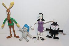 Rocky & Bullwinkle Bendable Toys Jesco 1985 Character Toys