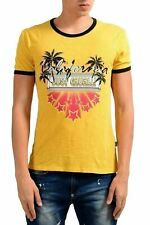 Just Cavalli Yellow Graphic Short Sleeve Men's T-shirt US M It 50