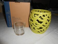 Partylite Green Waves Votive & Tealight Candle Holder P91875 - Nib