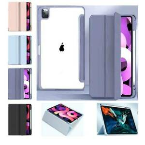 PU Leather Smart Clear Case Cover Stand for iPad 10.2 9.7 Pro 11 12.9 Air 4 10.9