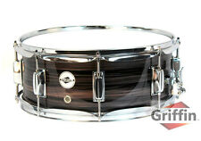 "Griffin Wood Snare Drum – Zebra 14x5.5 Poplar Shell 14"" Percussion Kit Set Key"