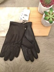 Ugg Men's Wrangell Leather Gloves Color Brown Size M(21)
