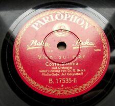 0926/ JEFIM GOLYSCHEFF-Violin-Solo-Costa Milona-Vieni sul mar -78rpm Schellack