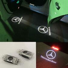 2x White LED 3D Logo Door Courtesy Laser Lights For Mercedes C-Class SLK CLK GLK