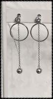 Boucles d'oreilles Originales Pendantes Oxyde de Zirconium Argent Massif 925