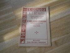 L'ORLANDO FURIOSO ESPOSTO AL POPOLO PARTE TERZA - E.LEVI - SONSOGNO 1950  -(52)