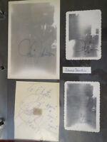 Johnnie Johnston signed photos (8) + cut signature  Fan Scrapbook pages 1940s