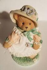 "Teddy Bear Figurine Hope Priscilla Hillman appx. 4""T x 2.5""W x 2""L Vg Our Love"