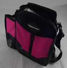 Tupperware Umhängetasche ThermoTasche mit Flaschenhalter Tasche Pink Schwarz Neu