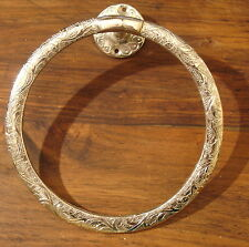 Moroccan silver colour  hand engraved heavy round towel holder ring