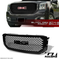 For 2015-2018 GMC Yukon/Denali Glossy Blk Oe Square Mesh Front Bumper Grille Abs