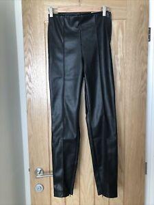 Zara PVC Leather Trousers Medium