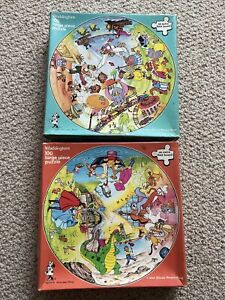 The World of Walt Disney Jigsaw Puzzles x2 100 Piece Waddingtons Vintage 1980's