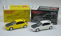2x Honda CIVIC Type R W '97 Y 1999 Hong Kong Ed. Vintage Neo Tomica Tomy Tomytec