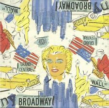 2 Serviettes en papier Marilyn Monroe Broadway Paper Napkins New York Taxi