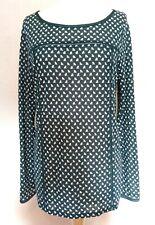 Boden Teal Soft Tencel Lightweight Long Sleeve Top  Size 14